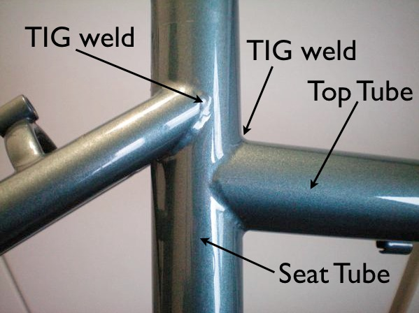 Example of TIG welding
