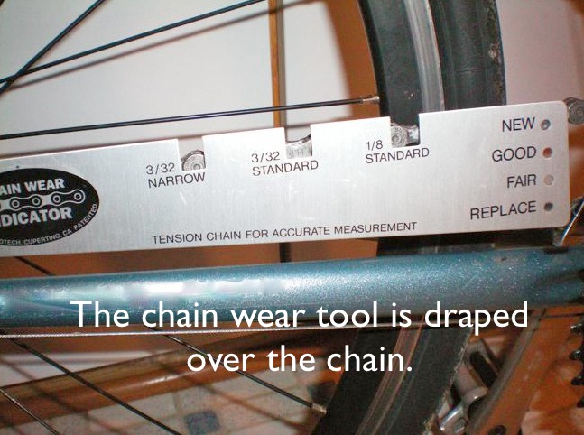 Chain Wear Gauge on Chain