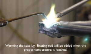 Brazing the seat cluster