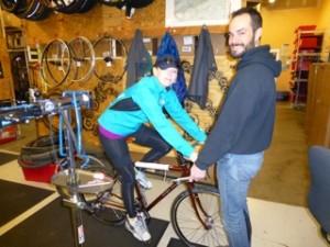 Fitting the bike